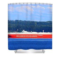 Wallenius Wilhelmsen Logistics Tamerlane Ship Shower Curtain by Tap On Photo