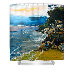 Walomwolla Beach Shower Curtain by Pamela  Meredith