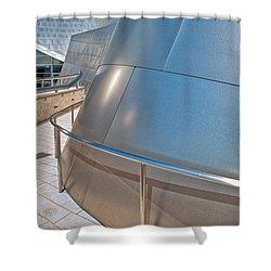 Walt Disney Concert Hall Music Hall Downtown Los Angeles Ca 3 Shower Curtain by David Zanzinger