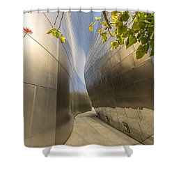 Walt Disney Concert Hall Scenery Shower Curtain by Angela A Stanton