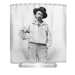 Walt Whitman Frontispiece To Leaves Of Grass Shower Curtain by American School