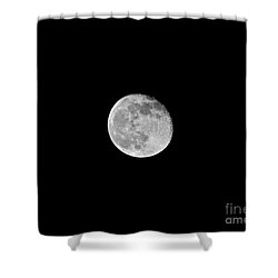 Waning Flower Moon Shower Curtain by Al Powell Photography USA