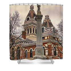 War Memorial Pontiac Il Shower Curtain by Thomas Woolworth