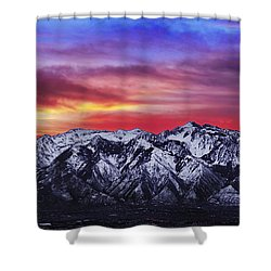 Wasatch Sunrise 2x1 Shower Curtain by Chad Dutson