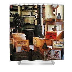 Washboards And Soap Shower Curtain by Susan Savad