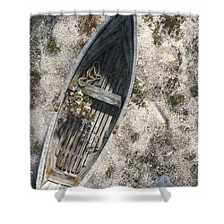 Washed Ashore Shower Curtain by Cynthia Decker
