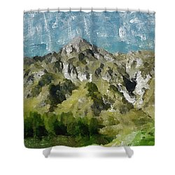 Washed Out Shower Curtain by Ayse Deniz