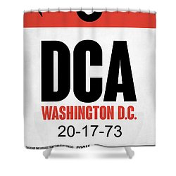 Washington D.c. Airport Poster 1 Shower Curtain by Naxart Studio