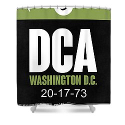 Washington D.c. Airport Poster 2 Shower Curtain by Naxart Studio
