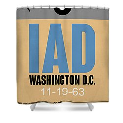 Washington D.c. Airport Poster 3 Shower Curtain by Naxart Studio