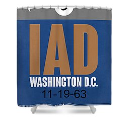 Washington D.c. Airport Poster 4 Shower Curtain by Naxart Studio