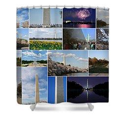 Washington Monument Collage 2 Shower Curtain by Allen Beatty