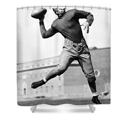Washington State Quarterback Shower Curtain by Underwood Archives