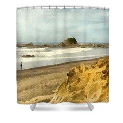 Washington State Seastacks Shower Curtain by Michelle Calkins