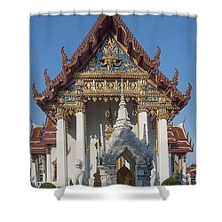 Wat Amarintaram Ubosot Dthb1507 Shower Curtain by Gerry Gantt