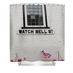 Watch Bell Street Rye Shower Curtain by David Fowler