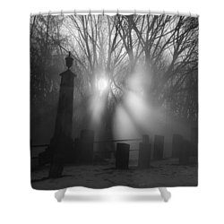 Watching Over Bw Shower Curtain by Karol Livote