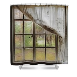 Watching The Rain Shower Curtain by Cheryl Young