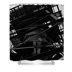 Watchtower Shower Curtain by Jennifer Ancker