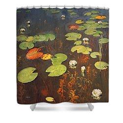 Water Lilies Shower Curtain by Isaak Ilyich Levitan