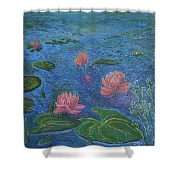 Water Lilies Lounge 2 Shower Curtain by Felicia Tica