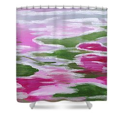 Water Lily Shower Curtain by Donna Blackhall