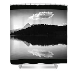 Water Reflection Black And White Shower Curtain by Matthias Hauser