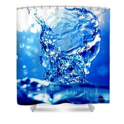 Water Refreshing Shower Curtain by Michal Bednarek
