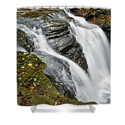 Water Rushes Forth Shower Curtain by Frozen in Time Fine Art Photography