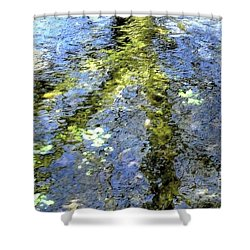 Watercolor Blues Shower Curtain by Tami Quigley