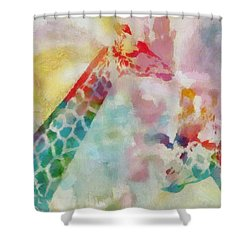 Watercolor Giraffes Shower Curtain by Dan Sproul