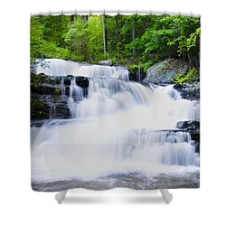 Waterfall In The Pocono Mountains Shower Curtain by Bill Cannon