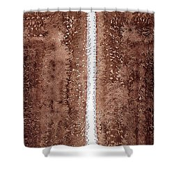 Waterfall Original Painting Shower Curtain by Sol Luckman