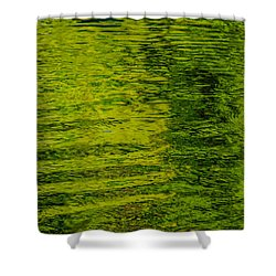 Water's Green Shower Curtain by Roxy Hurtubise