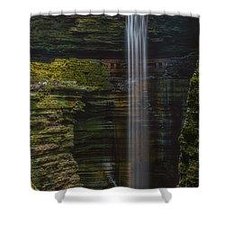 Watkins Glen Central Cascade Shower Curtain by Mark Papke