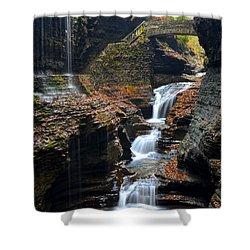Watkins Glen Shower Curtain by Frozen in Time Fine Art Photography