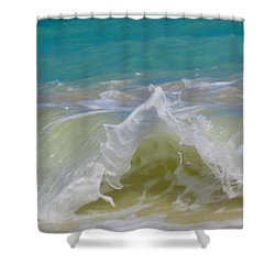 Wave 3 Shower Curtain by Cheryl Young