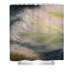 Wave Shower Curtain by Elena Sokolova