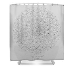 Wave Particle Duality Original Shower Curtain by Jason Padgett
