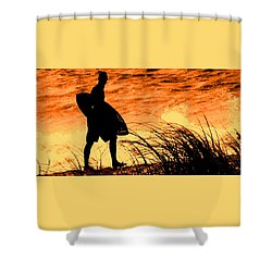 Wave Search Shower Curtain by Ian  MacDonald