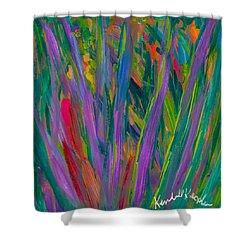 Waving Shower Curtain by Kendall Kessler