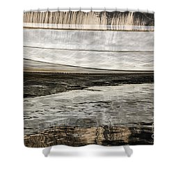 Wavy Reflections Shower Curtain by Sue Smith