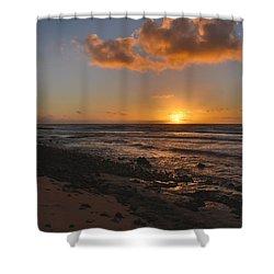 Wawamalu Beach Sunrise - Oahu Hawaii Shower Curtain by Brian Harig