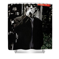 Way Out  George Harrison Shower Curtain by Iconic Images Art Gallery David Pucciarelli