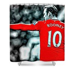 Wayne Rooney Poster Art Shower Curtain by Florian Rodarte