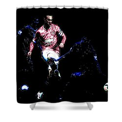 Wayne Rooney Working Magic Shower Curtain by Brian Reaves