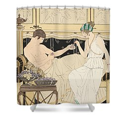 We Gorged With Grapes And Figs Least Shower Curtain by Joseph Kuhn-Regnier