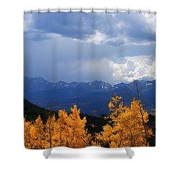 Weather Window Shower Curtain by Jeremy Rhoades