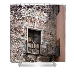 Weathered Wooden Church Doors Shower Curtain by Lynn Palmer