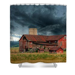 Weathering The Storm Shower Curtain by Lori Deiter